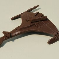 klingonen ship Vor'Cha class printed in PLA brown with 0.2mm layer thickness