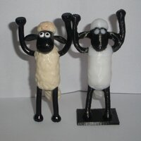 Shaun the sheep - dual printed in PLA black and white with 0.2mm layer thickness