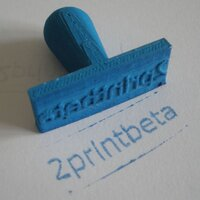 Stamp printed in soft-PLA with 0.2mm layer thickness