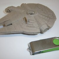 Millenium Falcon in highest quality, printed in PLA grey