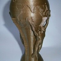 FIFA World Cup trophy brasil 2014 printed in PLA gold with 0.15mm layer thickness