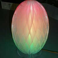 USBlinky lamp shade in transparent PLA with 0.2mm layer thickness