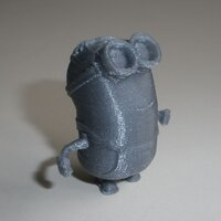 Minion from despicable-me printed in PLA silver with 0.1mm layer thickness